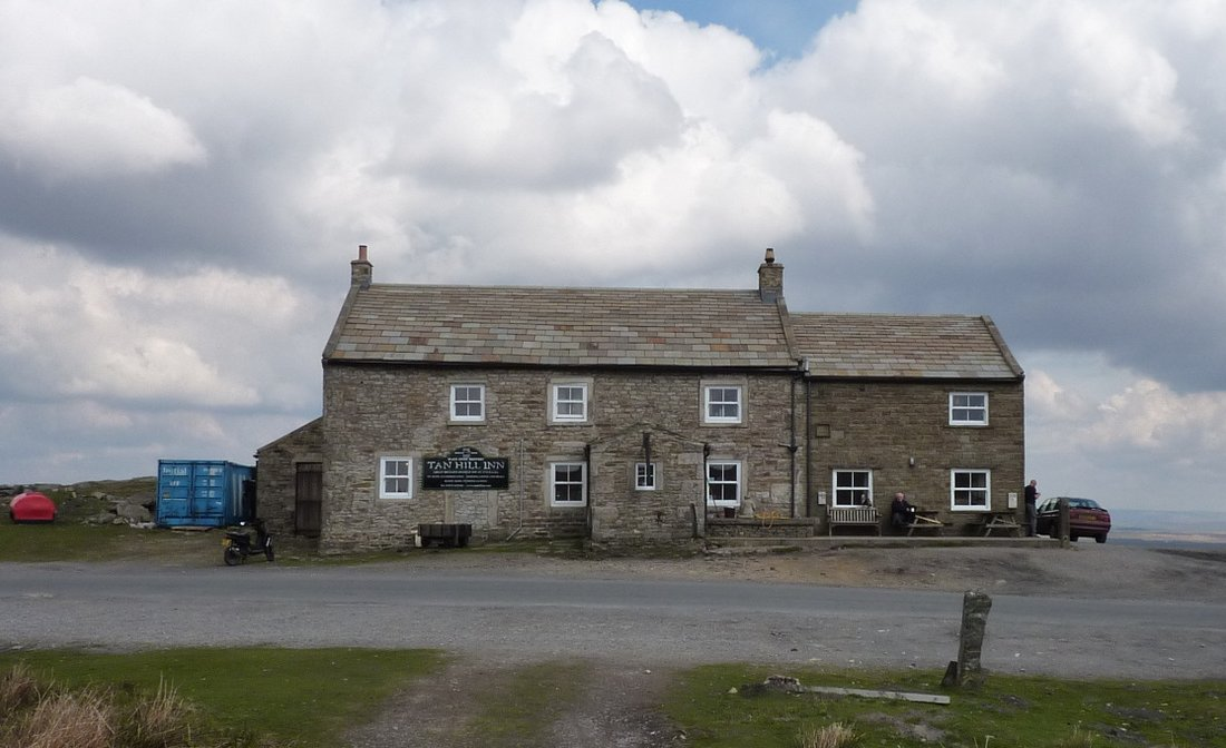 Tan Hill Inn, the highest public house in Britain